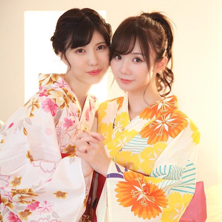 坂道美琉和蓝芽瑞季美少女合体蕾丝 男人团 热图1