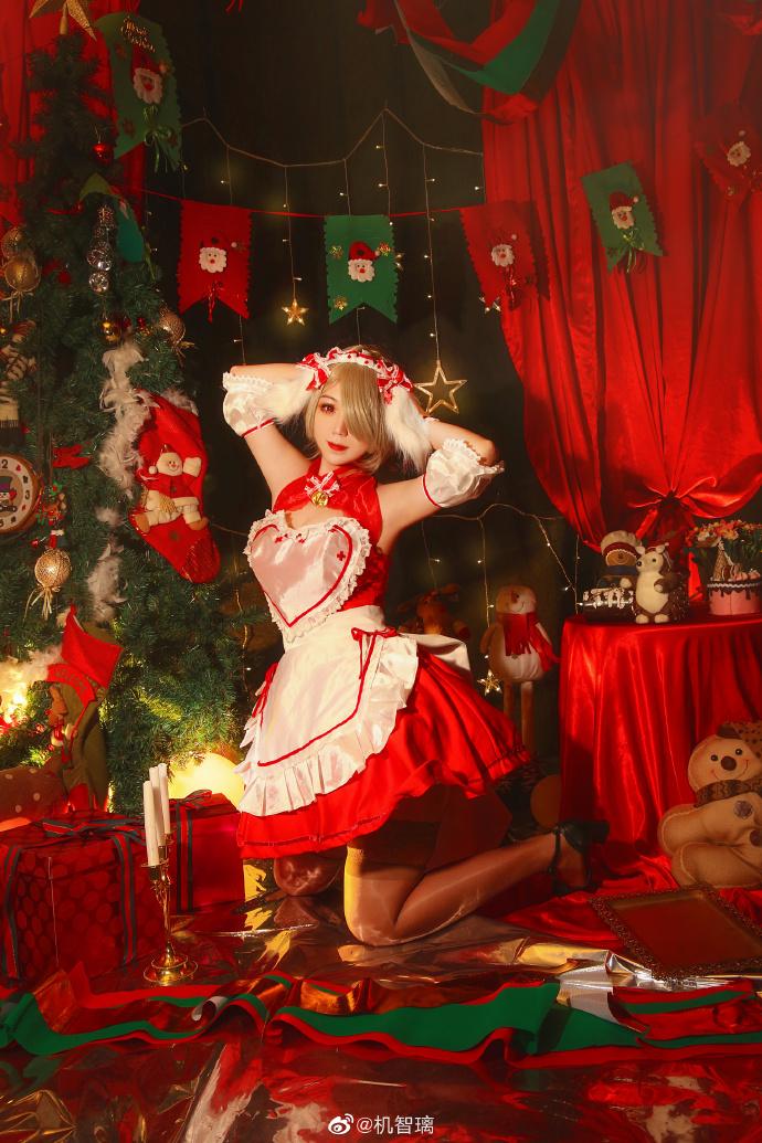 崩坏3   丽塔·洛丝薇瑟  圣诞女仆   @机智璃 (9P)-第5张