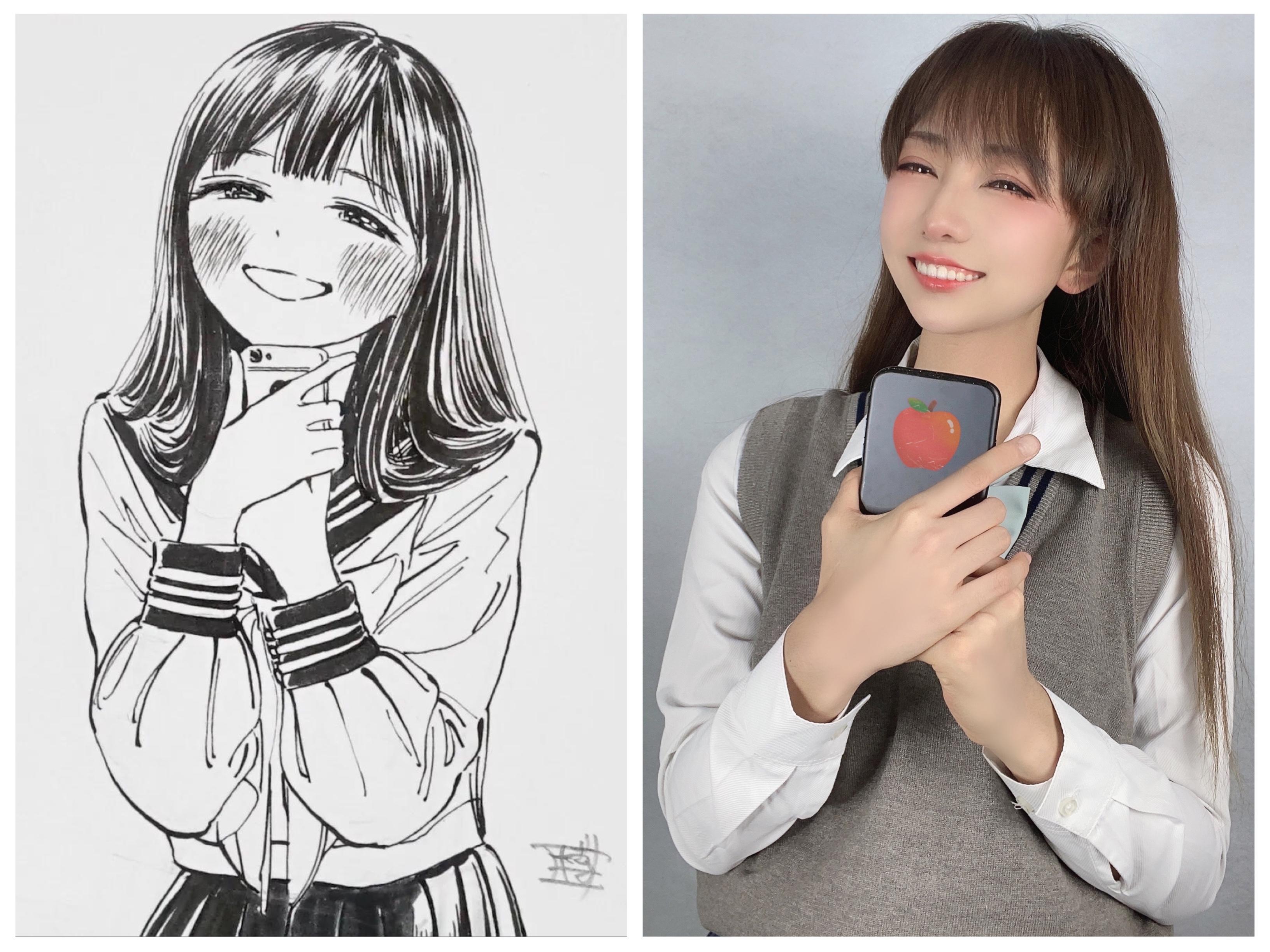 《明日酱的水手服》少女cosplay【CN:阿凡usagi】-第12张