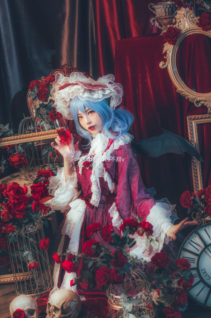 [COS]东方project   蕾米莉亚·斯卡雷特   @冉冉不甜v (9P) -神乐千鹤cosplay图片插图