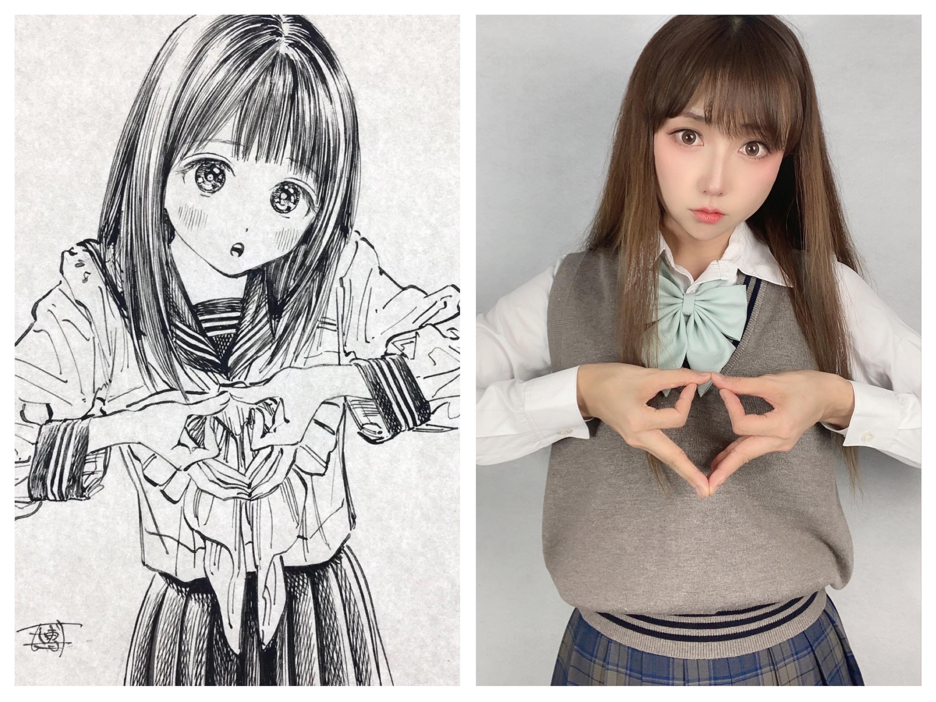 《明日酱的水手服》少女cosplay【CN:阿凡usagi】-第10张