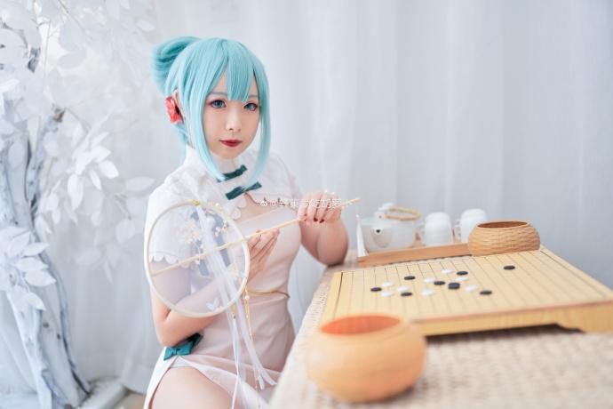 [COS]初音未来   「韶华」旗袍   @轩策爱吃胡萝卜 (9P) -cosplay美女福利图片插图