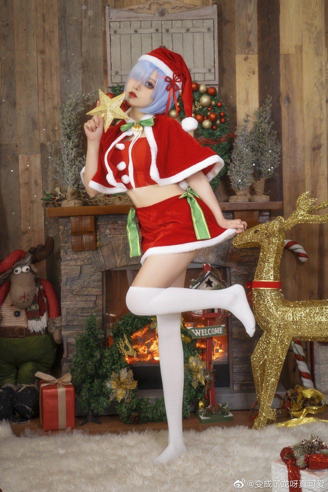 Re:从零开始的异世界生活   蕾姆   圣诞   @变成了龙呀真可爱 (9P)-第2张