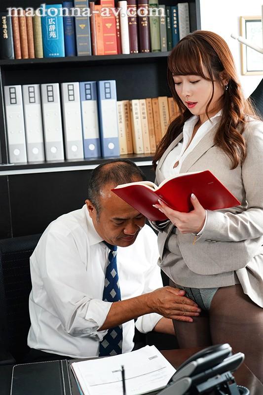 白石茉莉奈在社长办公室用身体支援老板 男人团 热图3