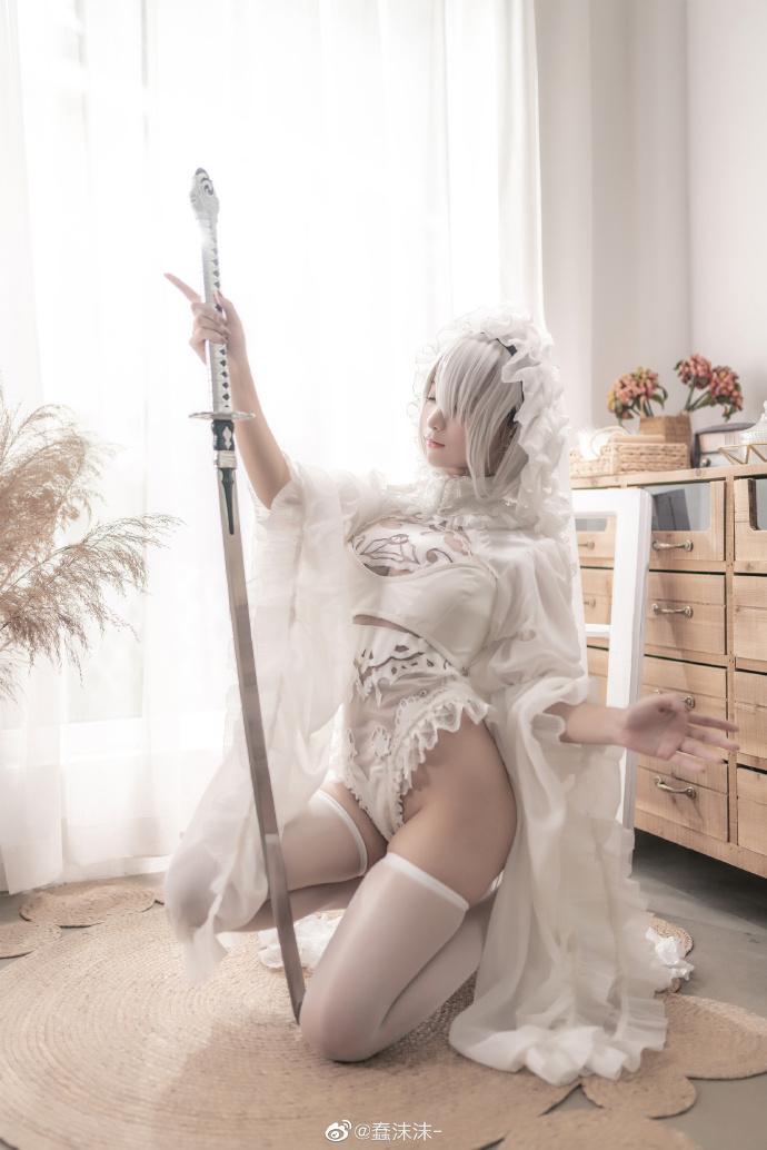 尼尔:自动人形  2B   黑白花嫁同人   @蠢沫沫- (9P)-第9张