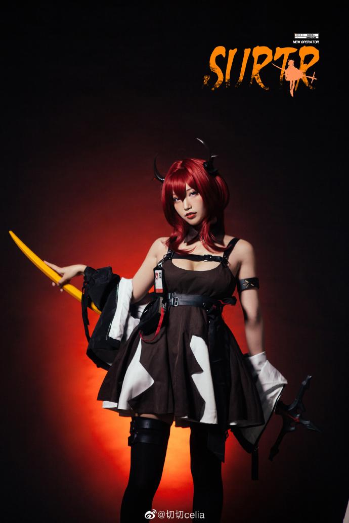 [COS]明日方舟   史尔特尔surtr   @切切celia (9P) -纲手真人cosplay图片插图