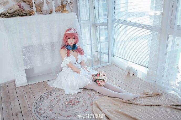 [COS]五等分的花嫁   中野三玖   @轩萧学姐 (9P) -cosplay冰雪奇缘图片插图