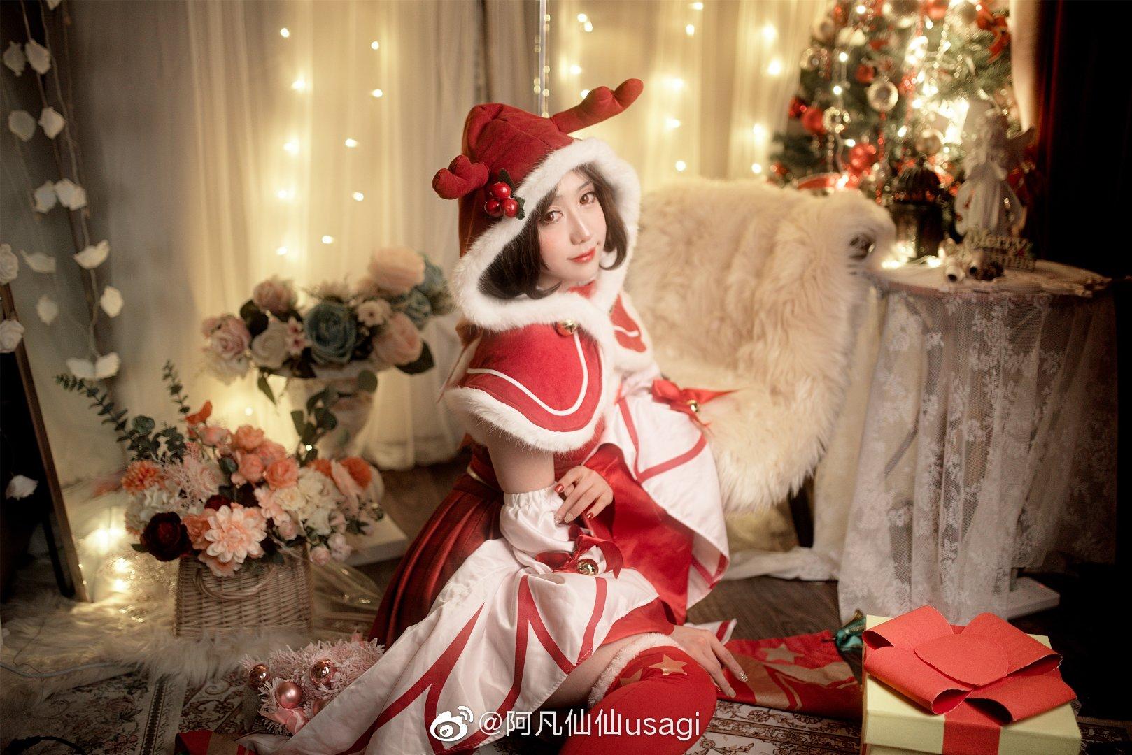 王者荣耀   圣诞貂蝉   @阿凡仙仙usagi (9P)-第4张