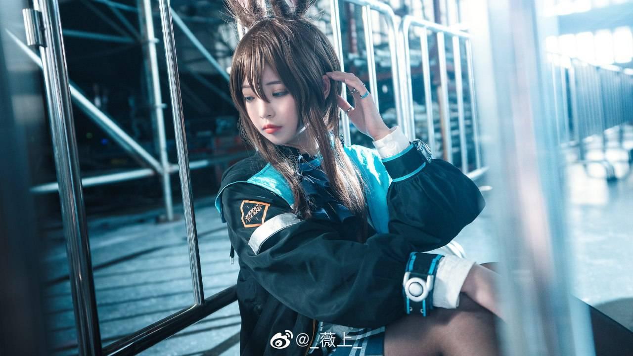 《明日方舟》阿米娅Cosplay【CN:_薇上_】 (9P)-第9张