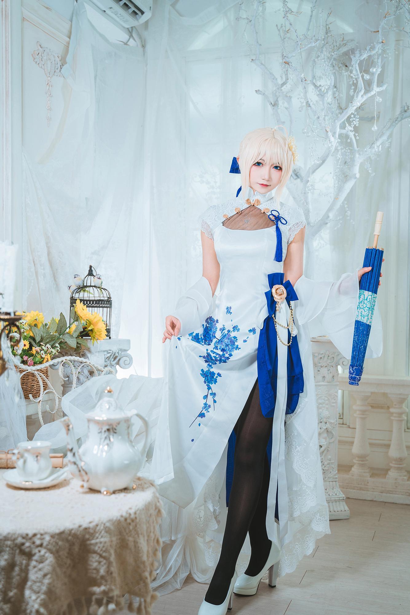 《FATE/GRAND ORDER》旗袍cosplay【CN:许多鱼鱼鱼】-第7张
