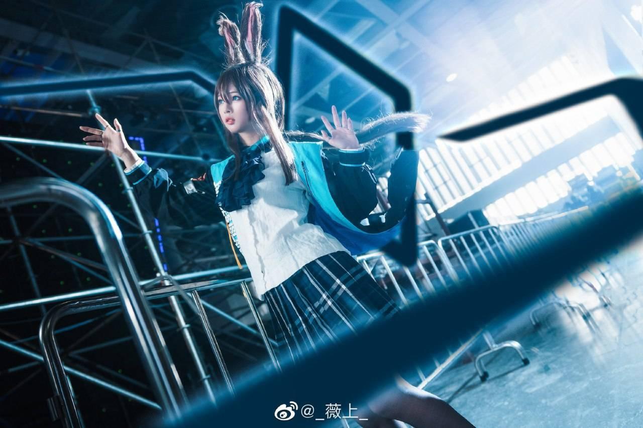 《明日方舟》阿米娅Cosplay【CN:_薇上_】 (9P)-第8张
