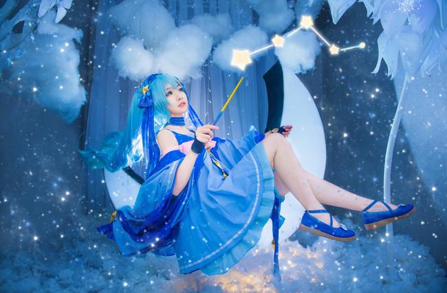 VOCALOID  初音未来  星与雪的公主  cn:蓝裳 (15P)-第1张