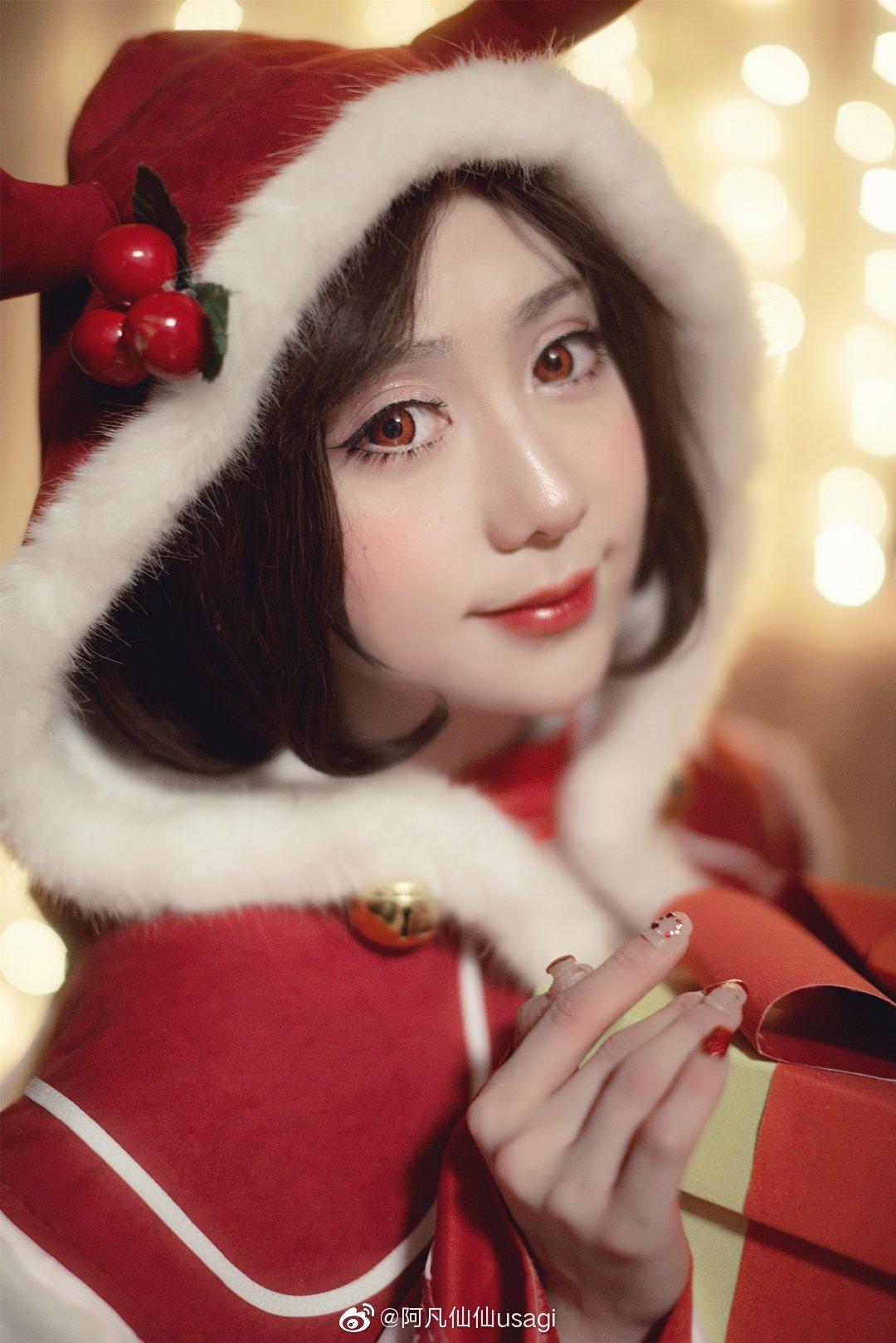 王者荣耀   圣诞貂蝉   @阿凡仙仙usagi (9P)-第8张