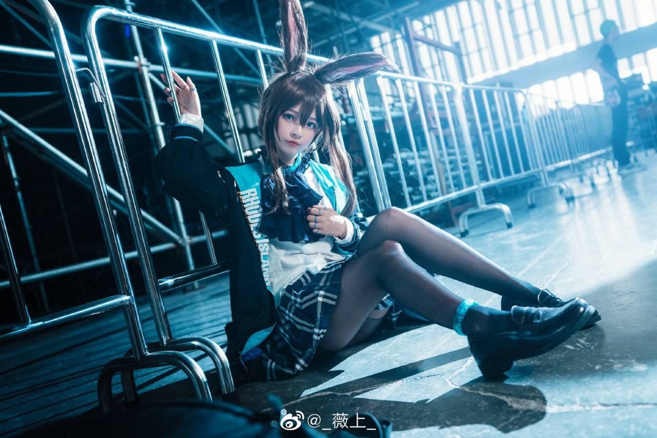 《明日方舟》阿米娅Cosplay【CN:_薇上_】 (9P)-第7张